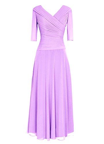 Dresstells, Robe de demoiselle d'honneur Robe de soirée Robe de cérémonie longueur ras du sol manches 3/4 Lavande