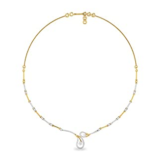 PC Jeweller The Dezso 18KT Yellow Gold and Solitaire Necklace for Women