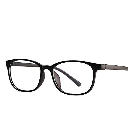 P-WEIAN Brille retro flachen Spiegel Brillengestell Brillengestell unisex