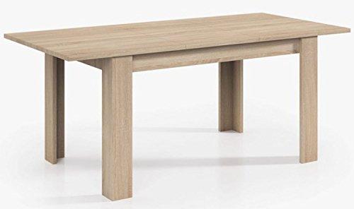 PEGANE Table Extensible de Salle à Manger Coloris chêne - Dim : H 78 x L 140-190 x P 90 cm