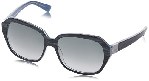 Hogan occhiali da sole ho0042 wayfarer, 92b striped blue/beige