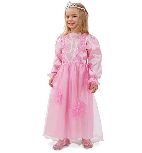 KarnevalsTeufel Kinderkostüm Prinzessin Louisa, 1-TLG. Rosa Prinzessinnen-Kleid für -