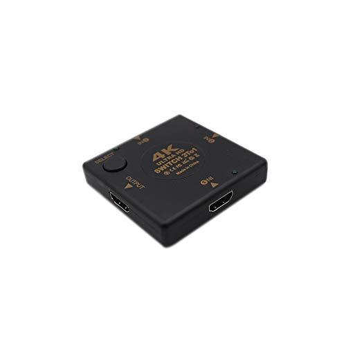 Switcher Drei In und Eins Out Quadratische Form Hd Switcher Stabiler Betrieb Langstreckenübertragung Schnelle Wärmeableitung - Schwarz Hdcp-repeater