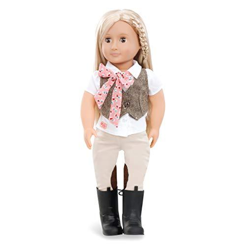 Our Generation BD31062Z Riding Doll w/Tweed Vest, Leah Spielzeugpuppe