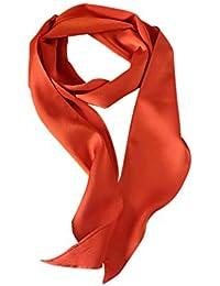 0067bacf0df DAMILY Solide Couleur Petit Foulard Longue Écharpe Maigre Cravate pour la  Soirée Costumée ...