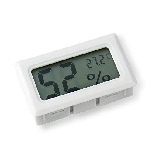Goodplan 1 STÜCKE Elektronische Thermometer Hygrometer Mini LCD Digital Indoor Temperatur-Und Feuchtigkeitsmessgerät für Home Office Auto Verwenden Weiß