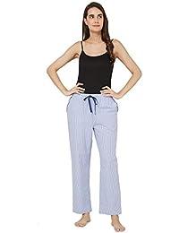 Mystere Paris Classic Woven Pyjama Sleepwear Womens Blue White Pyjama G363G c0a247691