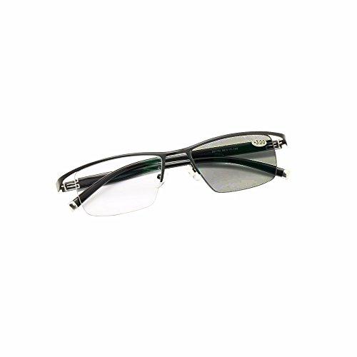 Übergang Photochrome Progressive Multi Focus Lesebrille Keine Linie Gradual + Rx Weitsichtige Sonnenbrille 0 bis +300 von Inkrementen von 25