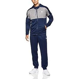 adidas MTS Gametime, Tuta da ginnastica, Uomo, Blu / Grigio (Collegiate Navy / Five), 4 IT (S)