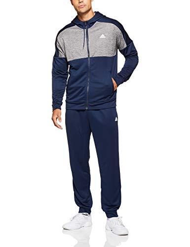 adidas MTS Gametime, Tuta da ginnastica, Uomo, Blu / Grigio (Collegiate Navy / Five), 10 IT (XL)