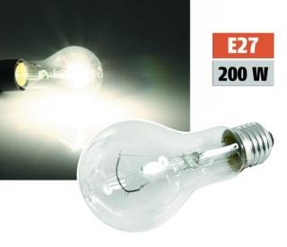 Gluehlampe PHILOS A65 Industrielampe E27. 230V. 200W. stossfest. klar