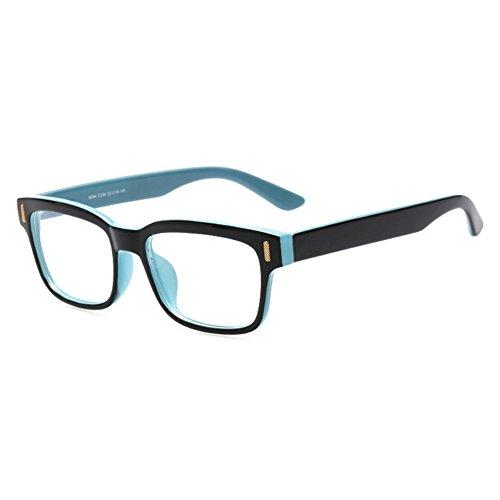 Hibote Männer Frauen Gläser - Klare Linse Brillengestell - Brillen + Brillenetui gratis 122801