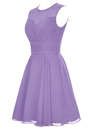Dresstells, robe courte de demoiselle d'honneur sans manches Gris