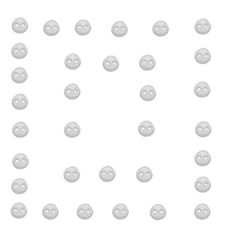 Dress It Up Embellishments-Micro Mini Round Buttons - White