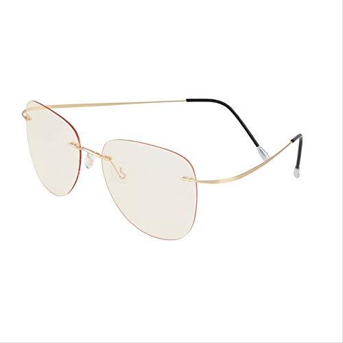 AQCSDF Anti-Blaue Brille Computer Glasses Men Anti Blue Light Radiation Ga