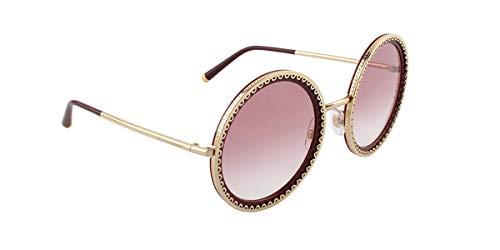 Dolce e gabbana 0dg2211 occhiali da sole donna, oro (gold/bordeaux) 53