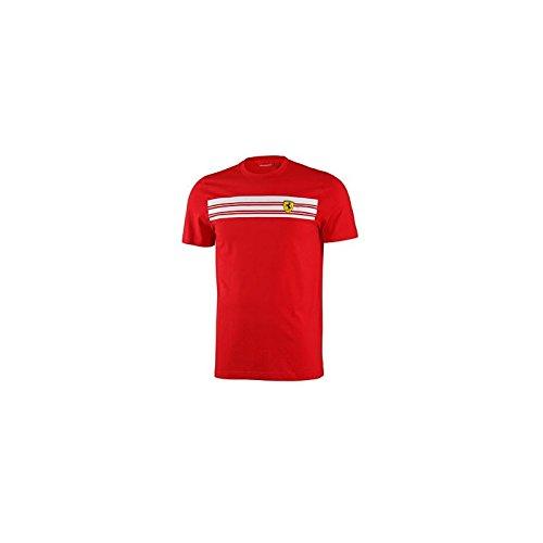 ferrari-t-shirt-5100102-100-220-a-rayures-l-rouge