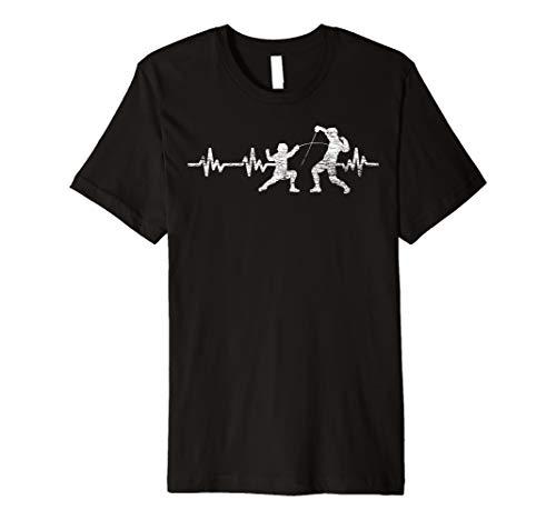 Herzschlag Herzlinie Fechten T-Shirt