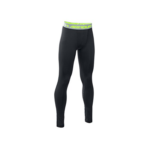 Under Armour Jungen Armour Up Leggings Fitness-Hosen & Shorts, Black, YXL (Leggings Kinder Coldgear)