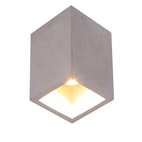 Deckenleuchte LED Downlight Cube | Betonleuchte GU10 7W | Deckenlampe modern | Lampe aus Beton inklusive LED-Leuchtmittel