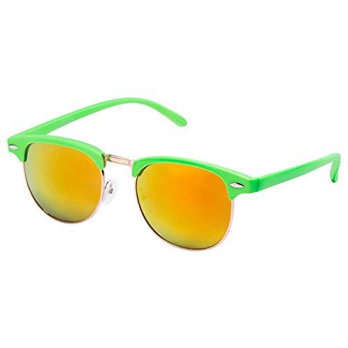 Ciffre EL-Sunprotect Classic Optik Sonnenbrille - UV400 Brille Premium Qualität - neon grün feuer verspiegelt