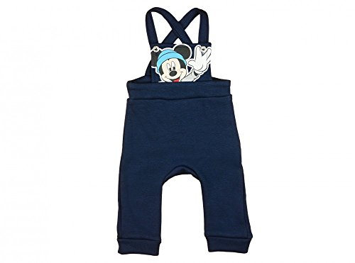 Jungen BABY-HOSE / LATZ-HOSE Mickey Mouse GEFÜTTERT, Retro-Look, GRÖSSE 62, 68, 74, 80, 86, 92, SPIEL-HOSE (Knöpfe, Bündchen), Freizeit-Hose /...