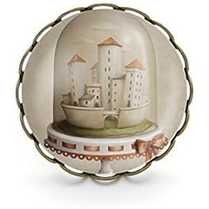 Ring mit Cabochon, Stadt unter Glas