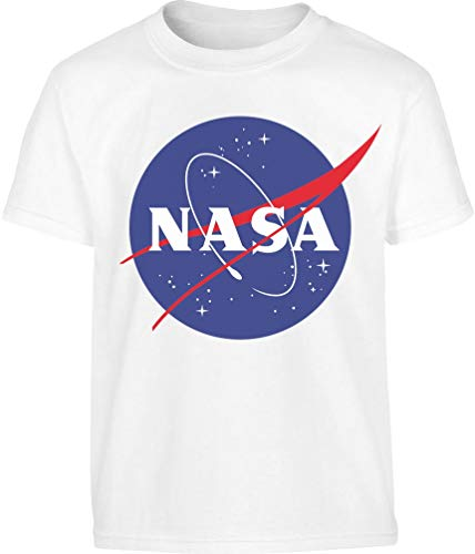 NASA Logo Galaxy Streetwear T Shirt Maglietta per Bambini e Ragazzi