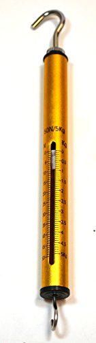El dinamómetro de 100 g/1 N (alta resolución) fabricado en aluminio es una gran herramienta para evaluar con precisión el peso de un objeto tanto en gramos como en Newton. Tiene marcas fáciles de leer y es muy fácil de usar.