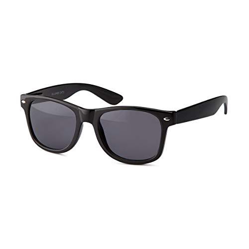 Lieblingsmensch Unisex Sonnenbrille im Wayfarer Stil (Schwarz Grau)