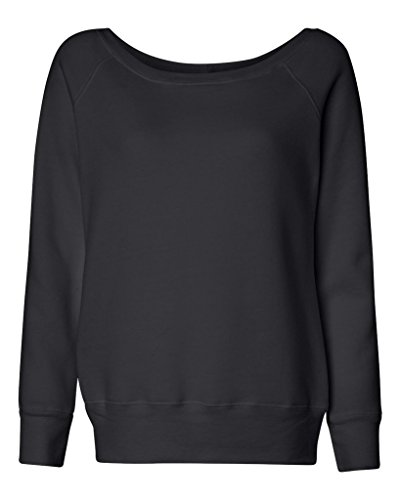 Bella Canvas - Sweat-shirt - Solid - Manches Longues - Opaque - Femme Noir