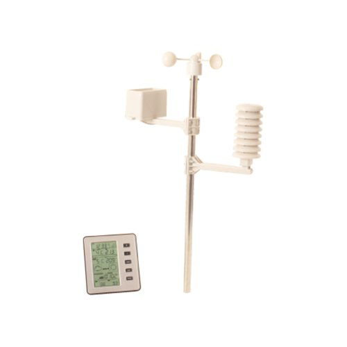 Image of PROFESSIONAL WIRELESS WEATHER CENTRE ALARM STATION LCD