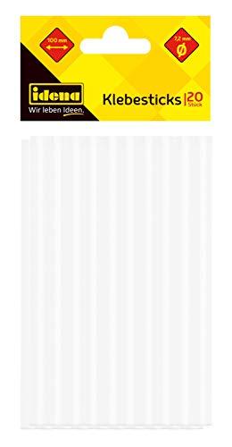 Idena 60048 - Klebesticks für Heißklebepistole, je 7,2 mm x 10 cm, 20 Stück -
