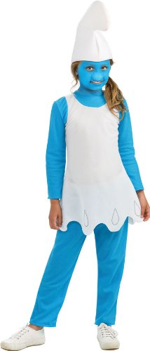 Die Schlümpfe Schlumpfine Kostüm Alter 5-7 Jahre erhältlich (Schlumpf Schlumpfine Kostüm)