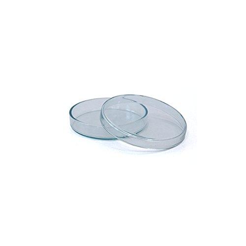3 x Petrischale 60x15mm aus Kalk-Soda-Glas ohne Nocken - bis 135°C im Autoklaven sterilisierbar - Petrischalen, Kulturschale, Agar Agar Schale, Zellkulturschale, Kulturschalen, Agar Agar Schalen, Zellkulturschalen