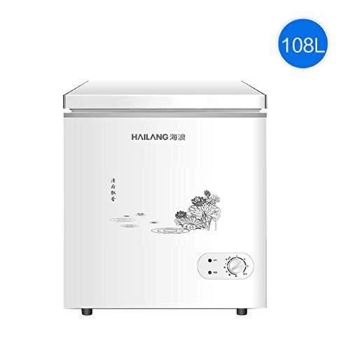 QCYSK Mini-refrigerador 108L Congelador Vertical Puerta