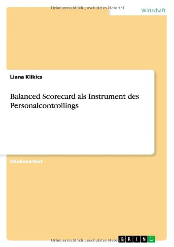 Balanced Scorecard als Instrument des Personalcontrollings