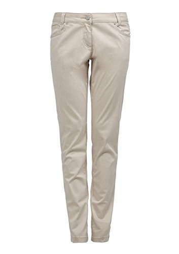 s.Oliver Damen Straight Leg Hose 5 - Pocket Braun (cognac 8140)