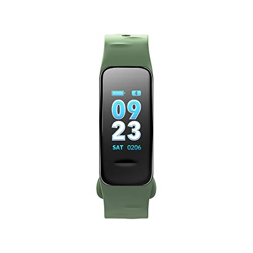 Fitness Armband mit Pulsmesser/Dorical Wasserdicht Smartwatch Schrittzähler Uhr Fitness Tracker Uhr Blutdruckmesser Farbbildschirm GPS Aktivitätstracker Stoppuhr für Kinder Damen Herren(Armeegrün)
