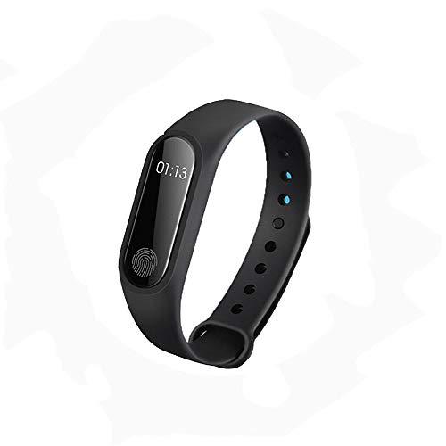 Smart Watch Farbbildschirm Armband Schlaf Überwachung Trinkwasser Erinnerung Outdoor Sports Wasserdichte Sportuhr Laufen Schwarz