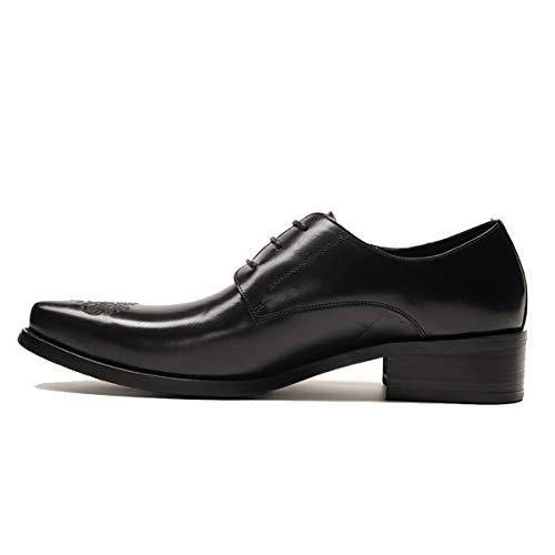 RSHENG Herren Oxford Bullock Casual Einzelne Schuhe Spitzschuh Business Kleid Schuhe Schuhe Friseur Trend Schuhe -