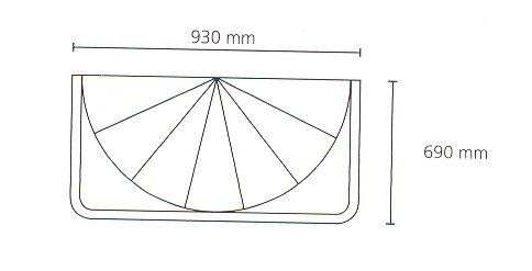 Kleine Wolke 0382000000 Aufhängevorrichtung und Duschvorhang Artikel Spider DV-Set mit DV, glasklar