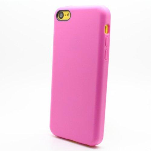 Mode Bonbons Couleur TPU Soft Cover Case For iPhone 5C bleu