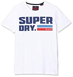 Superdry Herren NYC Tee T-Shirt, Weiß (Optic 01C), M