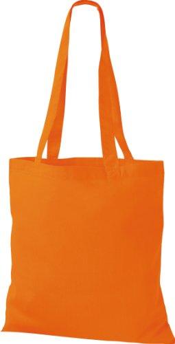5x Stoffbeutel Baumwolltasche Beutel Shopper Umhängetasche viele Farbe orange