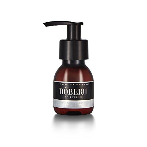 Nõberu Bartöl Feather – Amber-Lime - 60 ml (leichtes Premium Beard Oil für die Bartpflege   für 3-Tage Bärte und mittellange Bärte geeignet   das Bartöl für den Gentleman mit Bart   Amber-Limette)