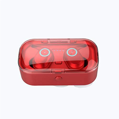 Unbekannt Bluetooth-Kopfhörer, kabellose Kopfhörer 5.0 Touch Control-kabellose Kopfhörer Bluetooth, Bluetooth-Ohrhörer, intelligente Rauschunterdrückung und Bluetooth-Batterieanzeige-red (Verwendet 4g Touch Ipod)