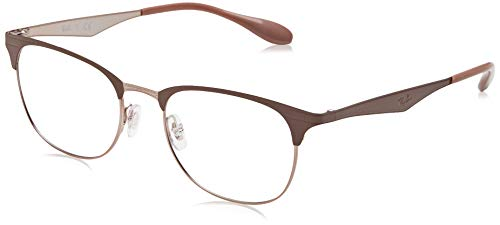 Ray-Ban Unisex-Erwachsene 0RX 6346 2973 52 Brillengestelle, Braun (Copper On Topo Light Brown),