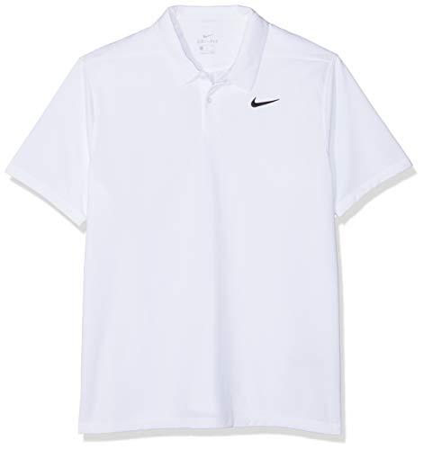 Nike Herren Dri-Fit Essential Solid Poloshirt, White/(Black), L