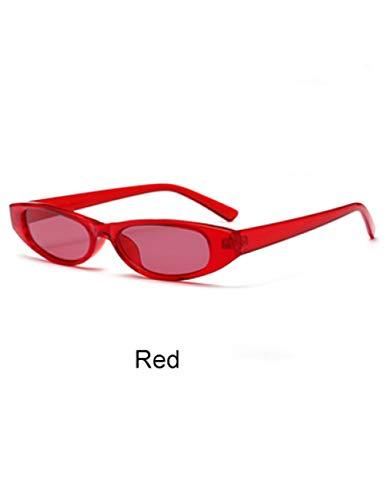 DPDH Sonnenbrillen Trendige Vintage Sonnenbrille Frauen Kleinen Rahmen Sonnenbrille Shades Mini Sonnenbrille Brillen ZubehörRed
